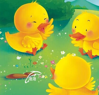 小鸭小鸟嬉戏图片