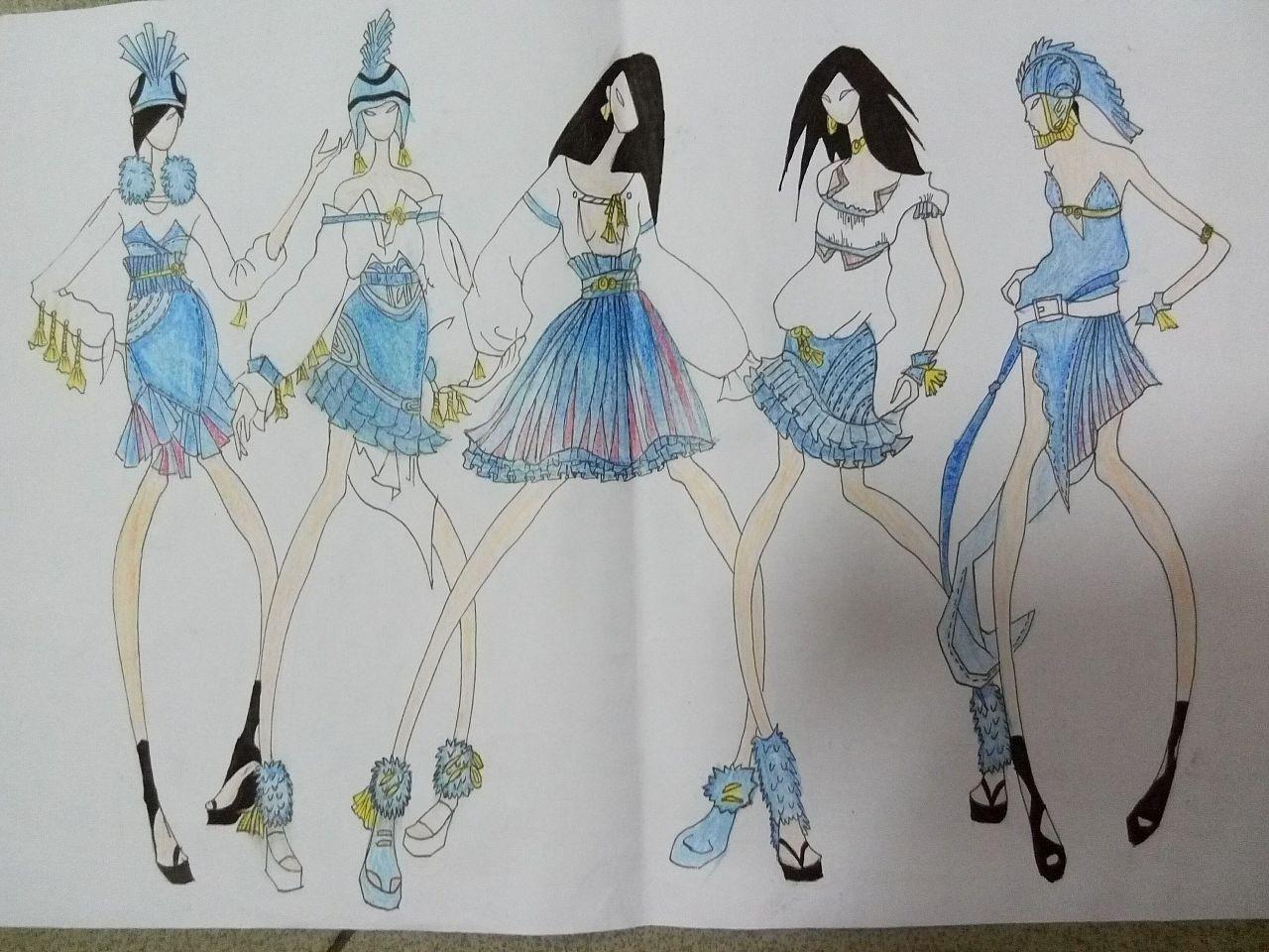 服装设计手稿