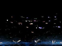 丛林蝴蝶,动物森林全息投影素材