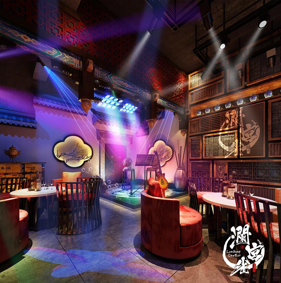 西北五省第一家新中式酒吧《澜宫雀》图片