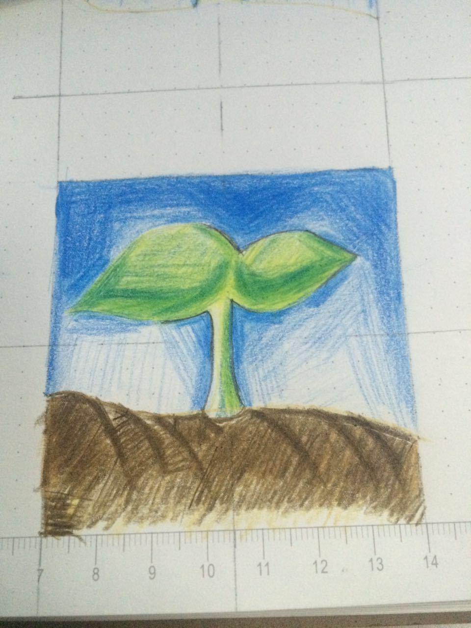 前期的简单手绘|纯艺术|素描|悬崖下的小鸟 - 临摹