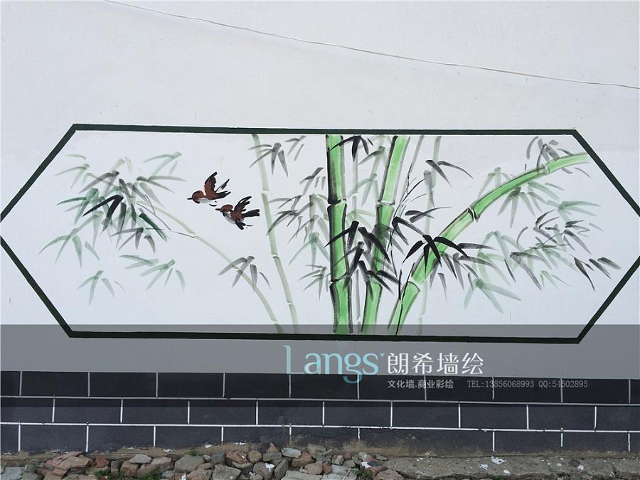 幼儿园外围墙国画