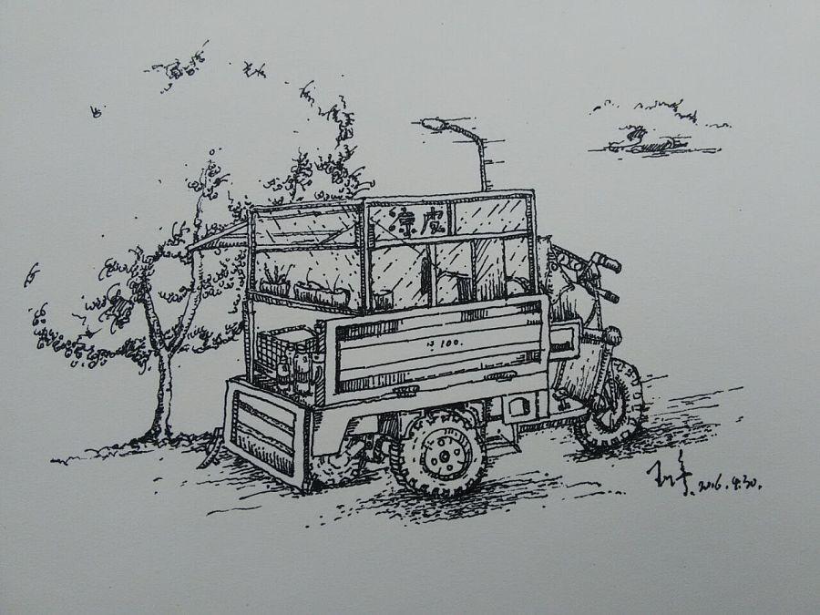 环艺手绘针管笔