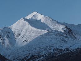 阿拉斯加雪山肖像(还有极光)