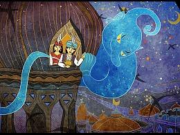 Aladdin and the magic lamp阿拉丁神灯
