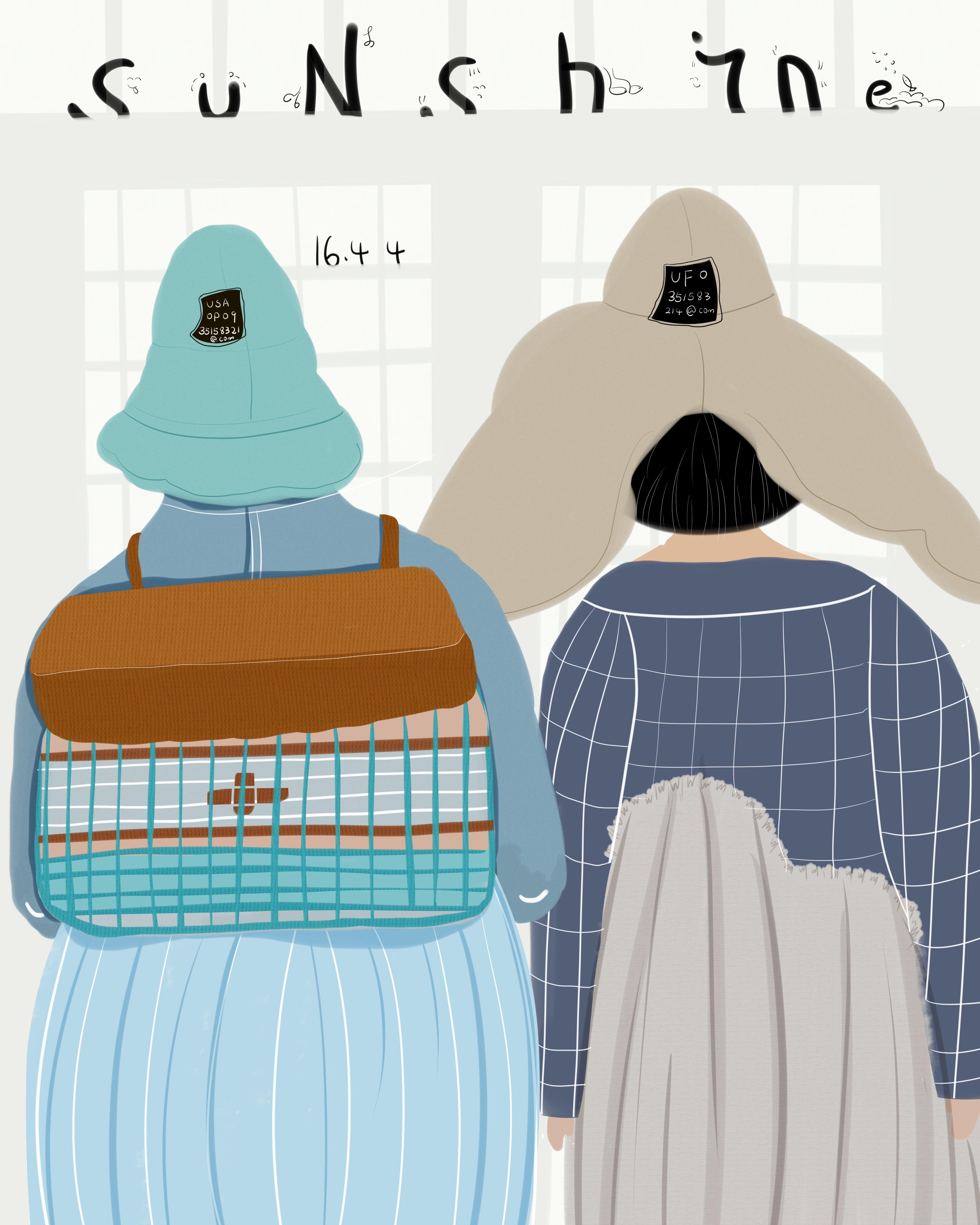 背书包的女孩