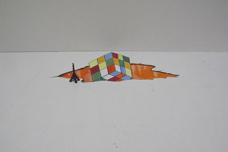 我画的一些3d地画小稿|其他|墙绘/立体画|油腔画调