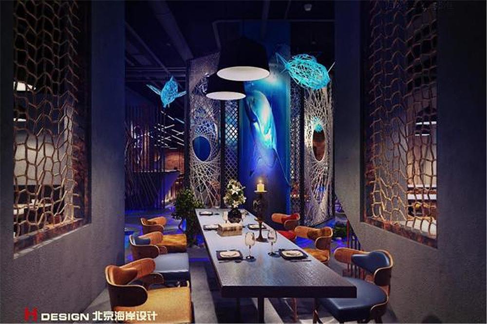 海口北京匠子烤鱼餐饮店设计案例海南海岸设计温馨装修设计效果图图片