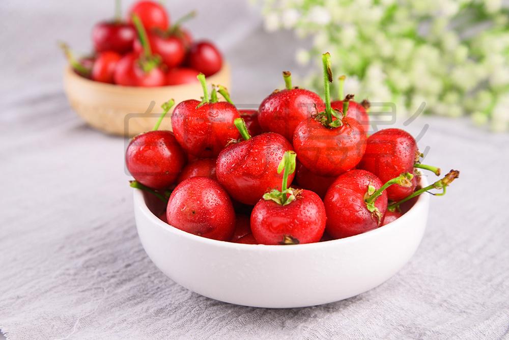 红樱桃 水果 美食 诱人的水果
