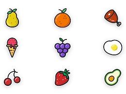 水果食物 图标logo