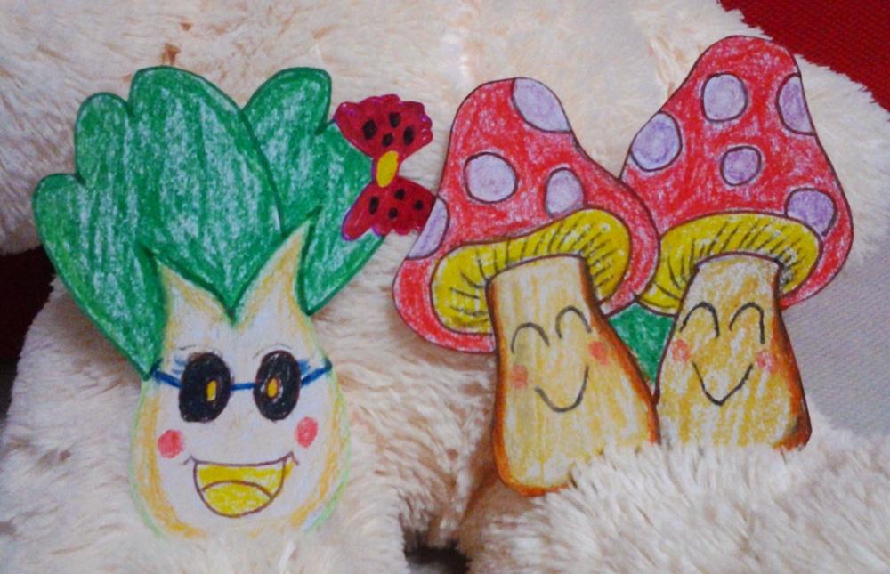 厚纸制作卡通蔬菜图片