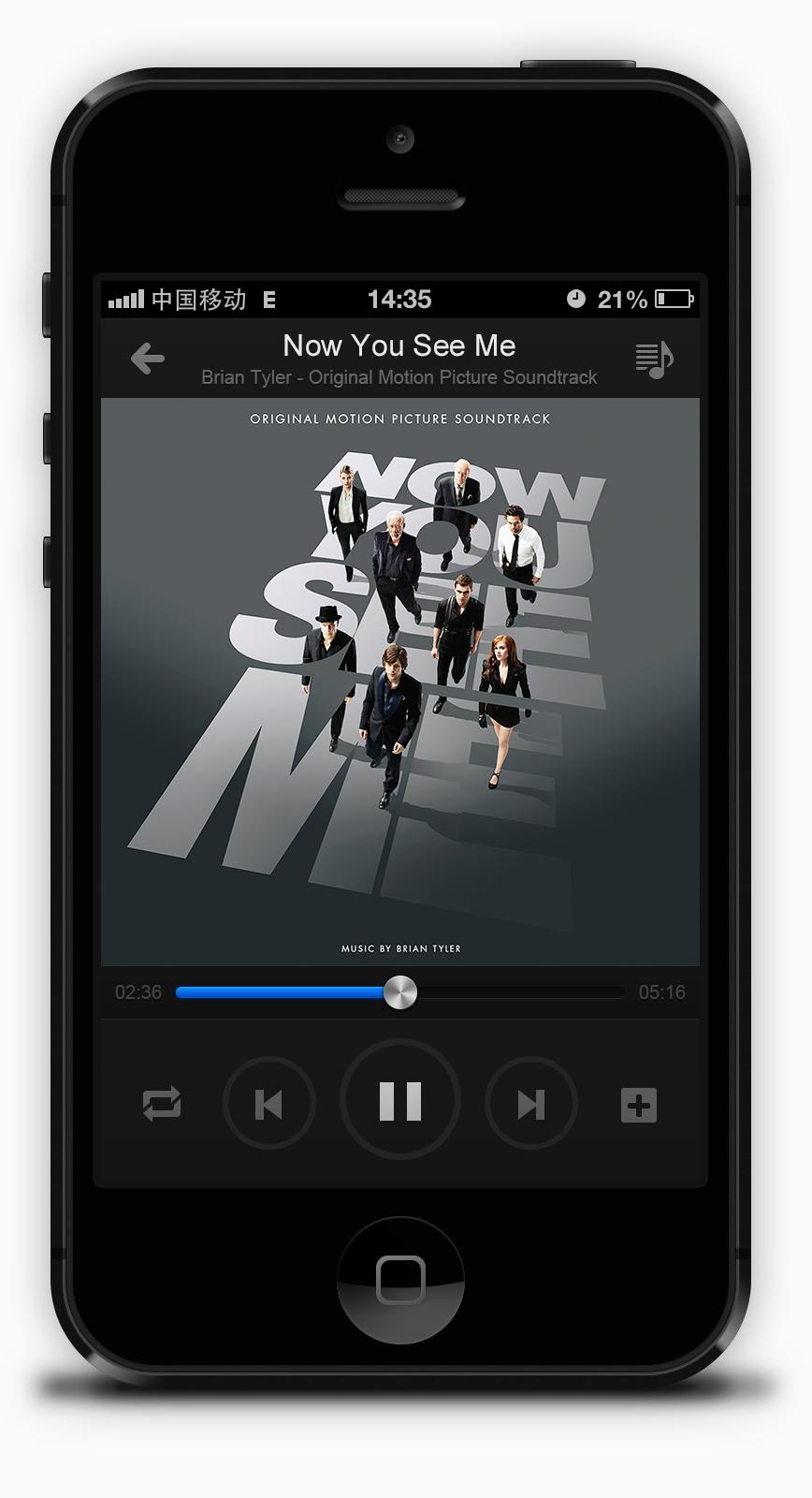 查看《手机音乐界面》原图,原图尺寸:868x1600