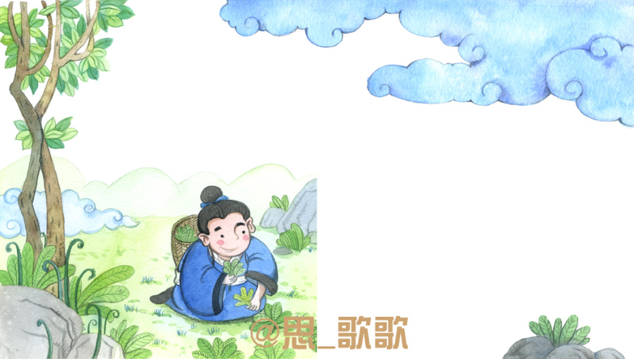 2015年传统故事-百里负米部分插图|儿童插画|插