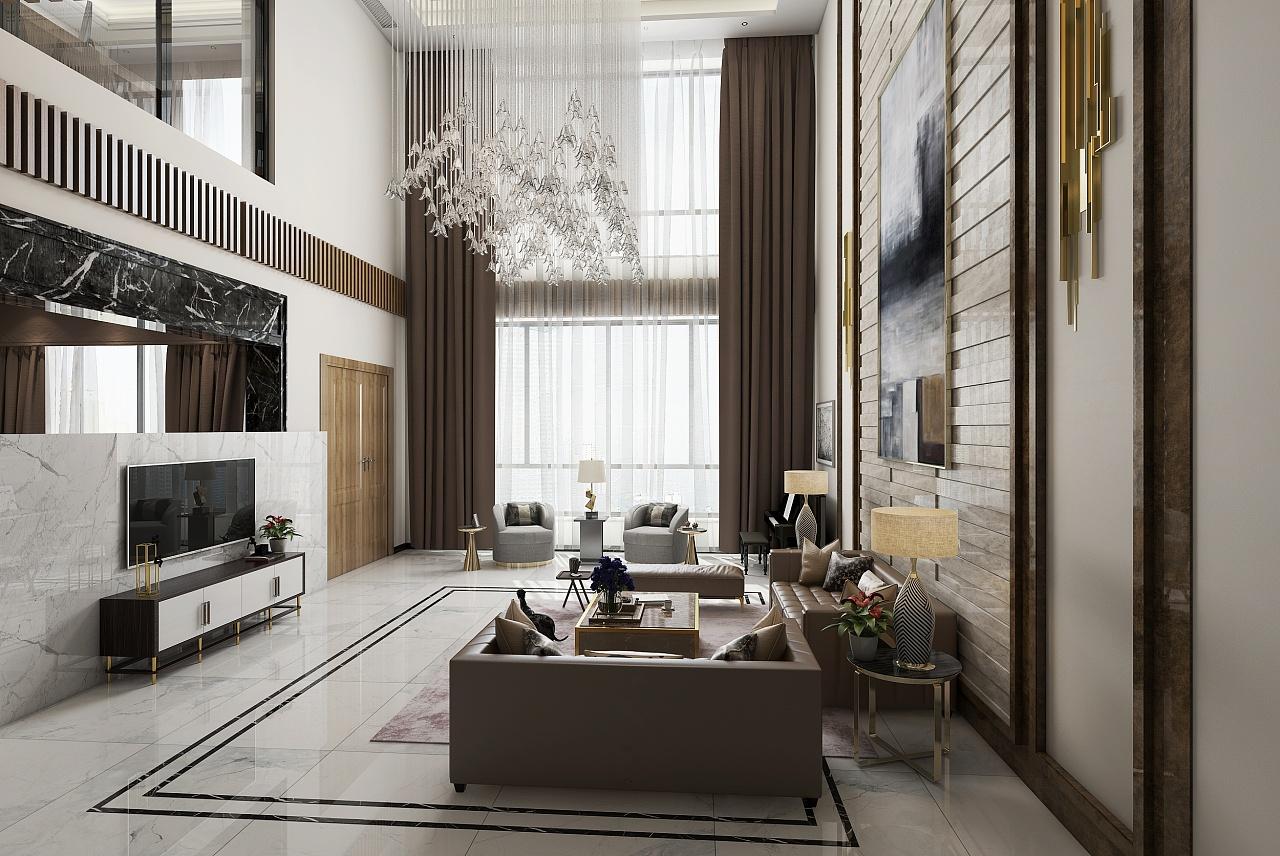 新作品别墅客餐厅空间表现|空间|室内设计|化作千风