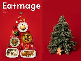 圣诞节日主题菜单拍摄