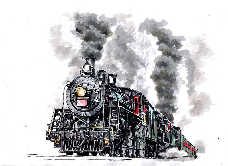 火车头手绘