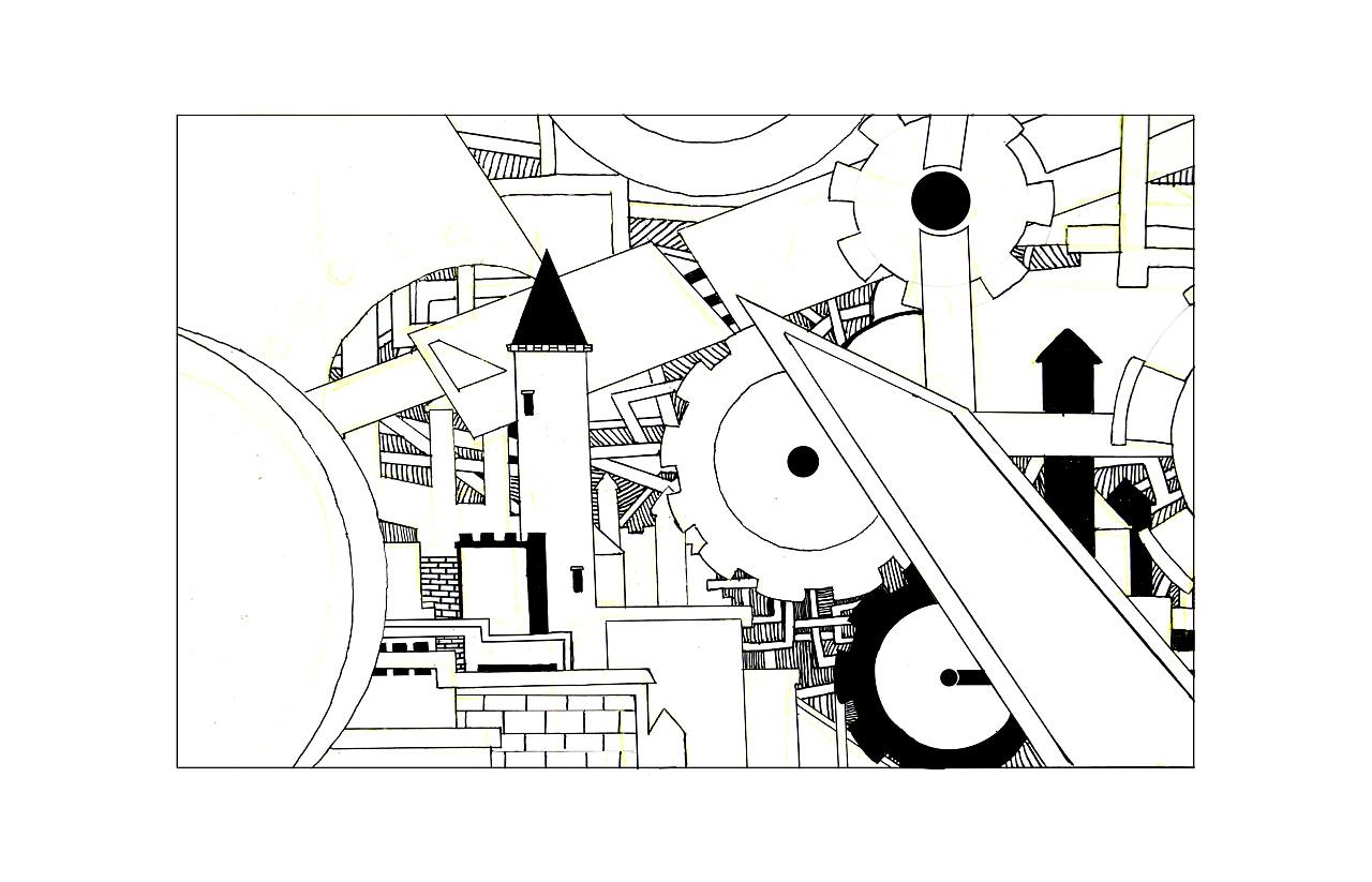 用点线面构成的画_黑白装饰画|插画|插画习作|木魎克儿 - 原创作品 - 站酷 (ZCOOL)