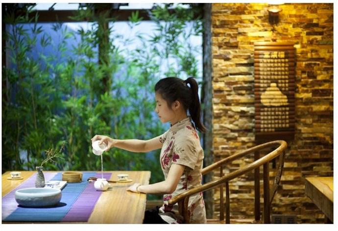 顺意号茶艺馆--德阳茶楼v茶楼|德阳曲线绘制|室内流行茶楼装修图片