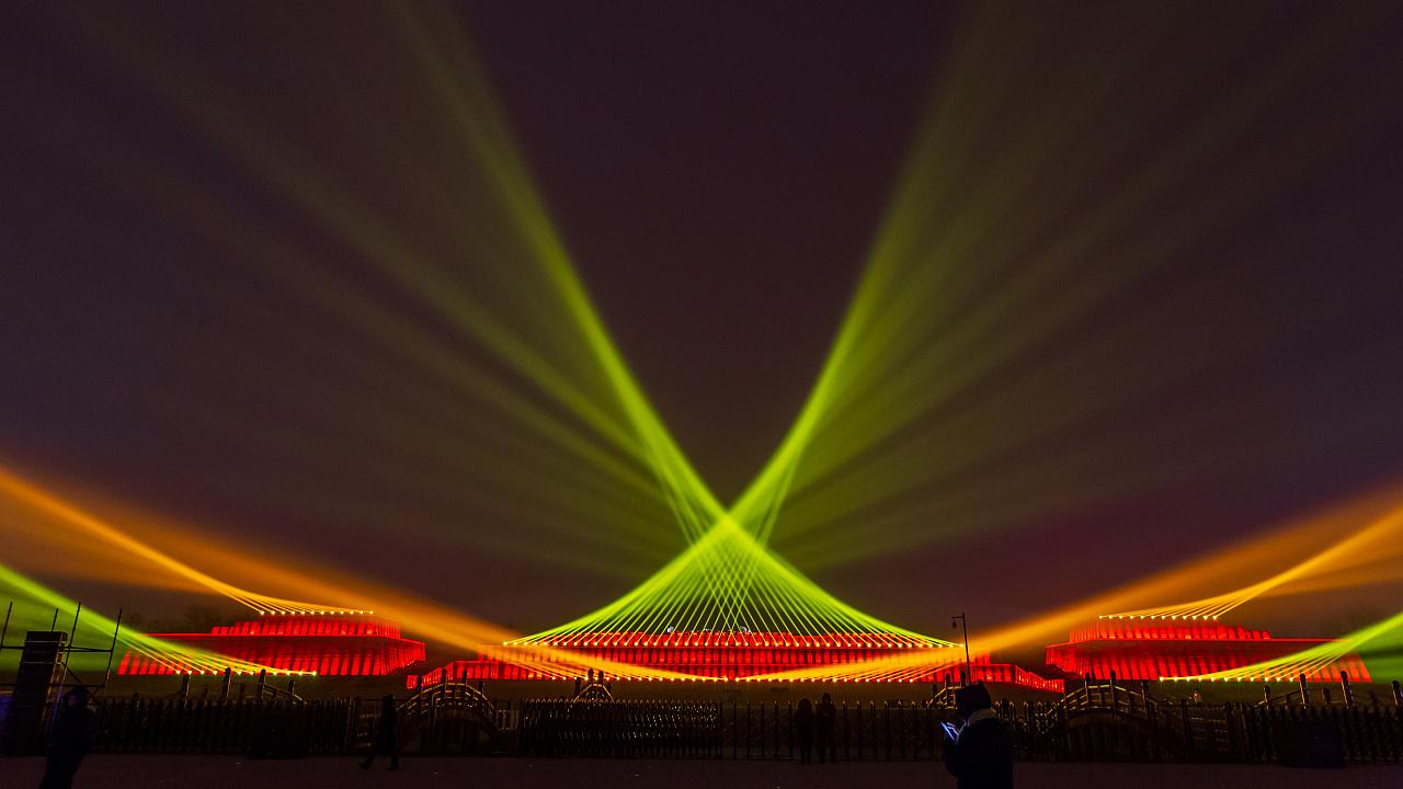 西安大明宮遺址公園燈光秀 - 原創作品 - 站酷(zcool)圖片