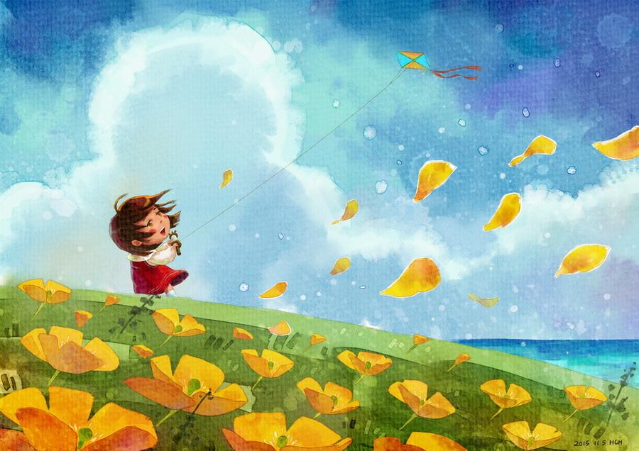 (娃他妈)手绘数码水彩2|儿童插画|插画|娃他妈