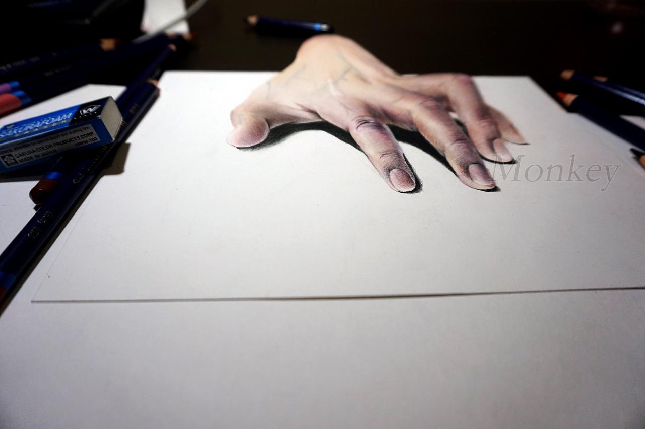 彩铅手绘3d画