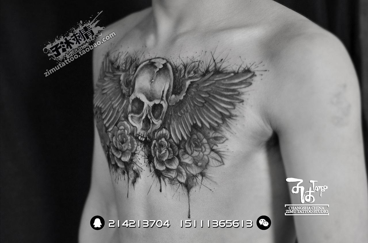 近期刺青作品 长沙子沐刺青文身纹身2017年4月