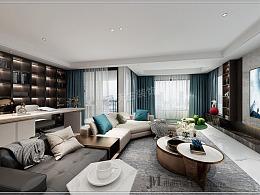 龙湖尘林间138平户型装修,低调雅致现代轻奢风设计图