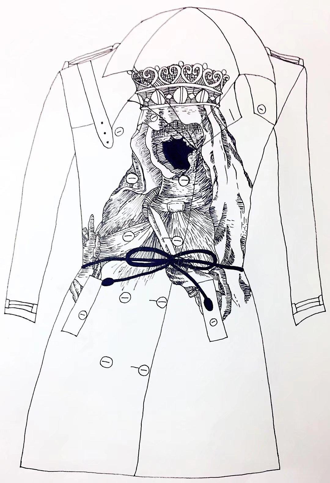 手绘彩铅与衣服图案设计