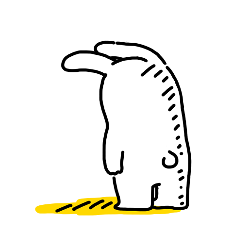 年糕兔要上天/微信表情图片