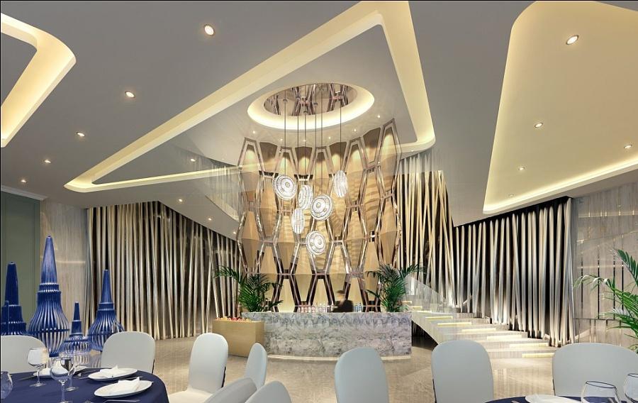 【成都禾香湾宴条件】成都酒楼装修设计|德阳宴厅建筑设计师的v条件酒楼图片