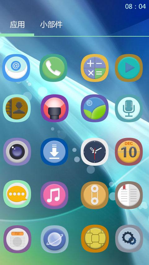 PS制作的一款手机UI主题icon 安卓系统4.3