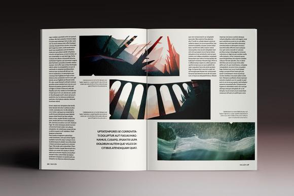 indesign杂志模板图片