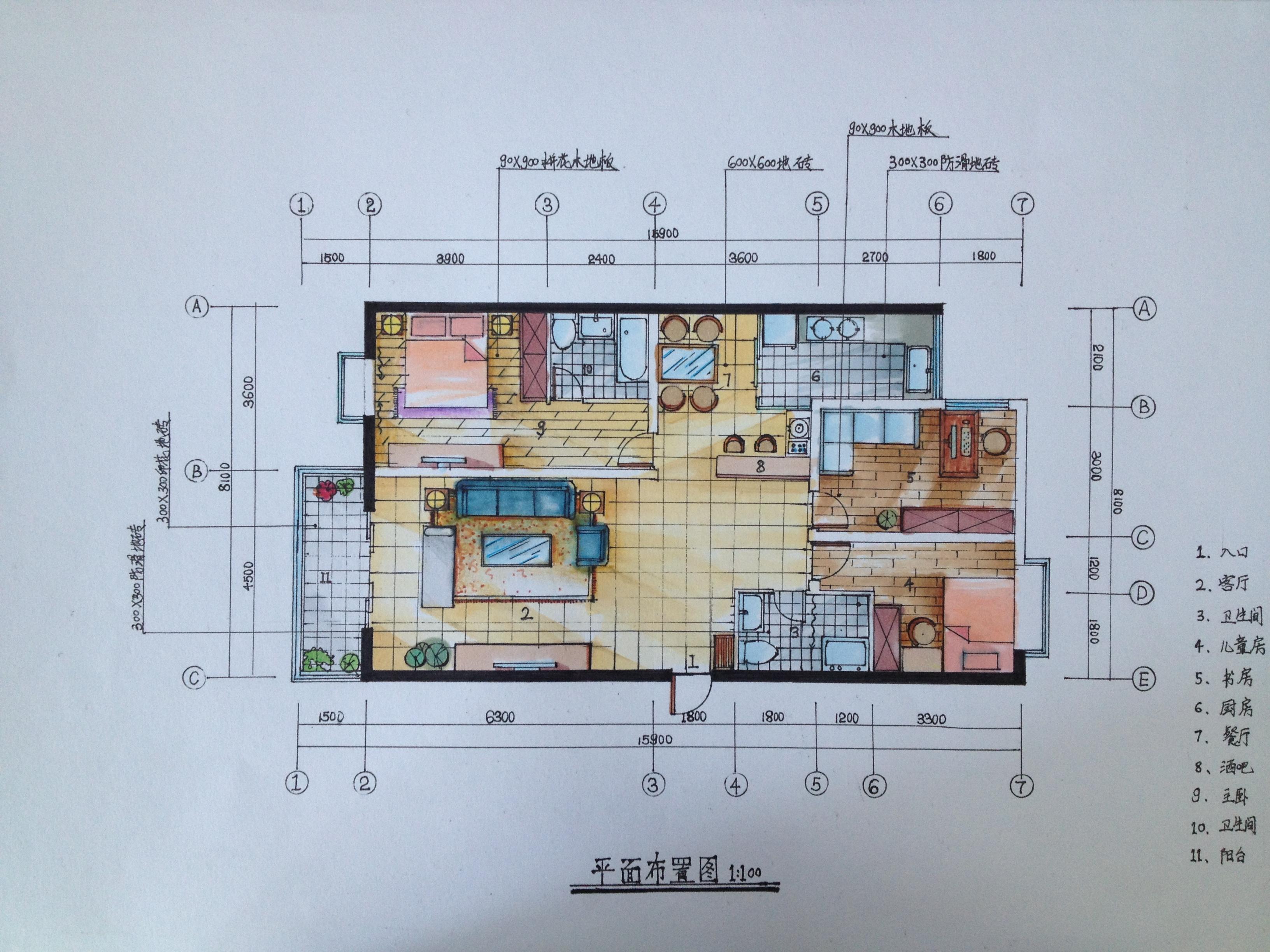 手绘|空间|室内设计|belinda0406 - 原创作品 - 站酷
