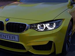 BMW  M4 车灯渲染