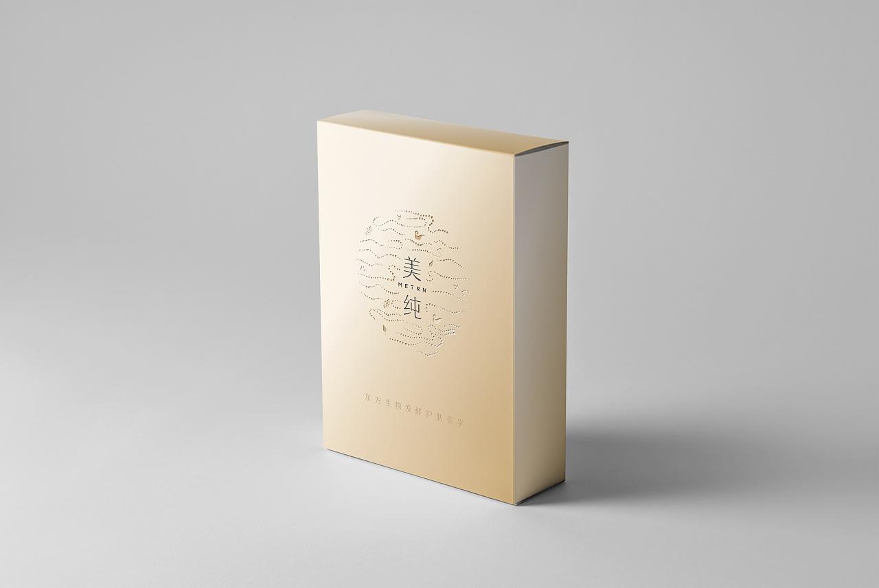 美纯面膜包装设计图片