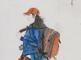 工笔画家陈波最新人物作品
