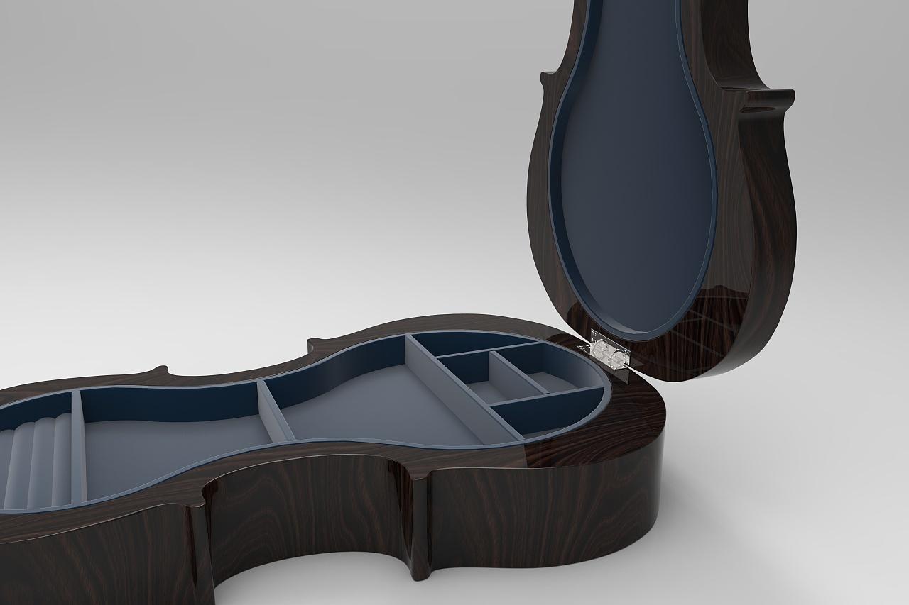 小提琴造型首饰盒|工业/产品|礼品/纪念品|lcai
