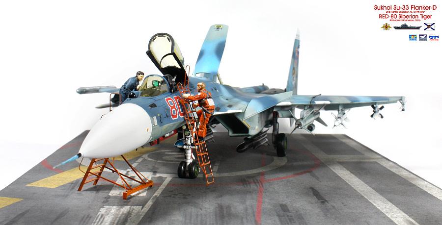 """查看《1/72 俄羅斯海軍 蘇-33 海側衛 """"紅色80"""" 「場景篇」》原图,原图尺寸:3140x1602"""