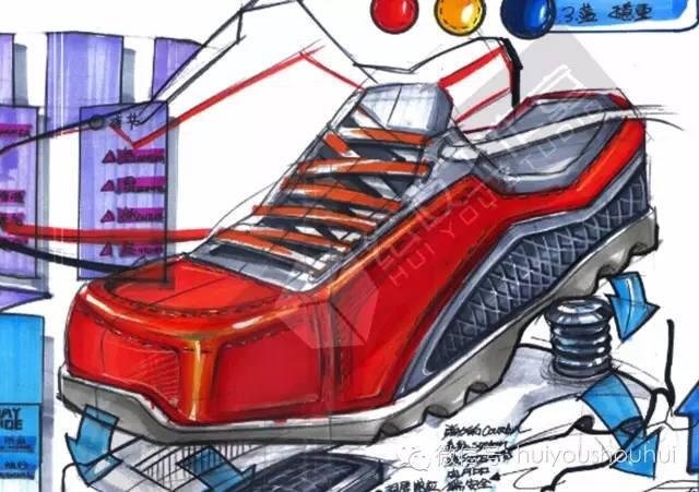 工业设计红色系产品手绘图|其他产品|工业/产品|绘友