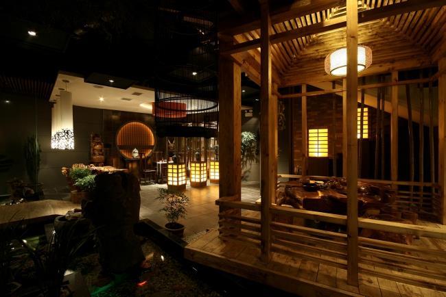 园林式空间装修|室内设计|茶楼免费音乐设计素材图片