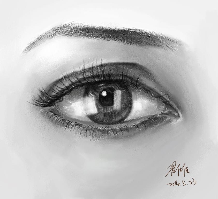 手绘板眼睛教程