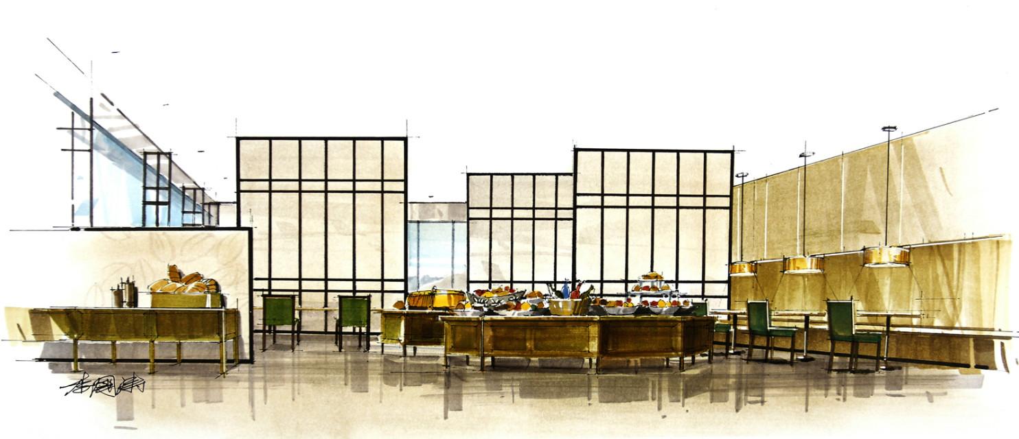 马克笔室内手绘表现 空间 室内设计 liguotao - 原创