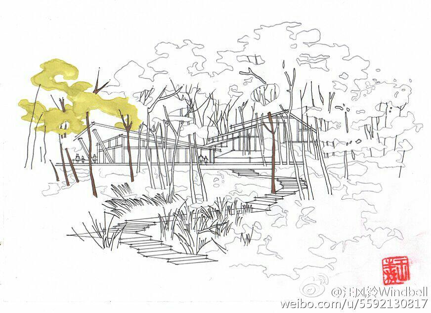 别墅平面图铅笔手绘