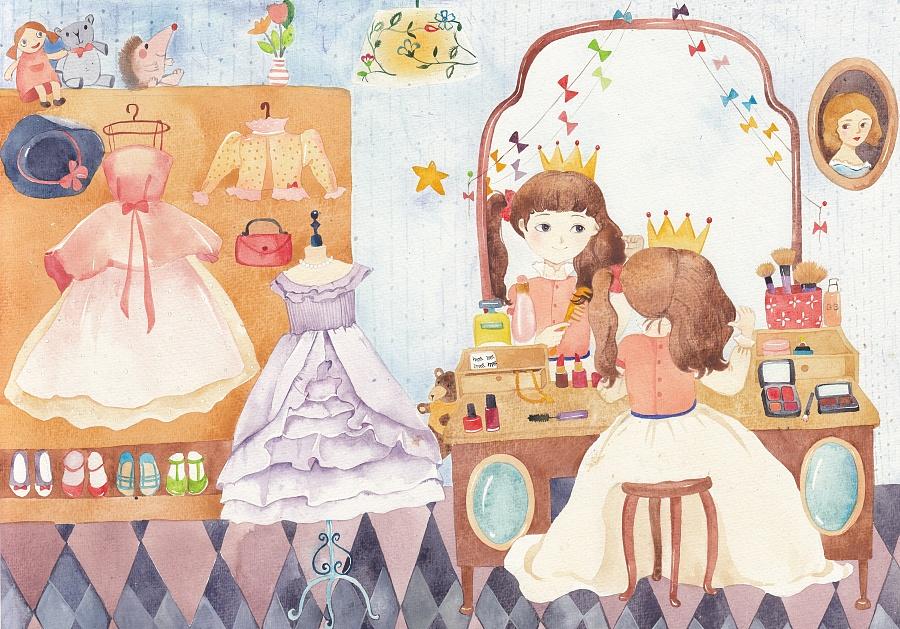 儿童插画-小公主