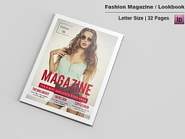 32页时尚摄影个人写真画册模板