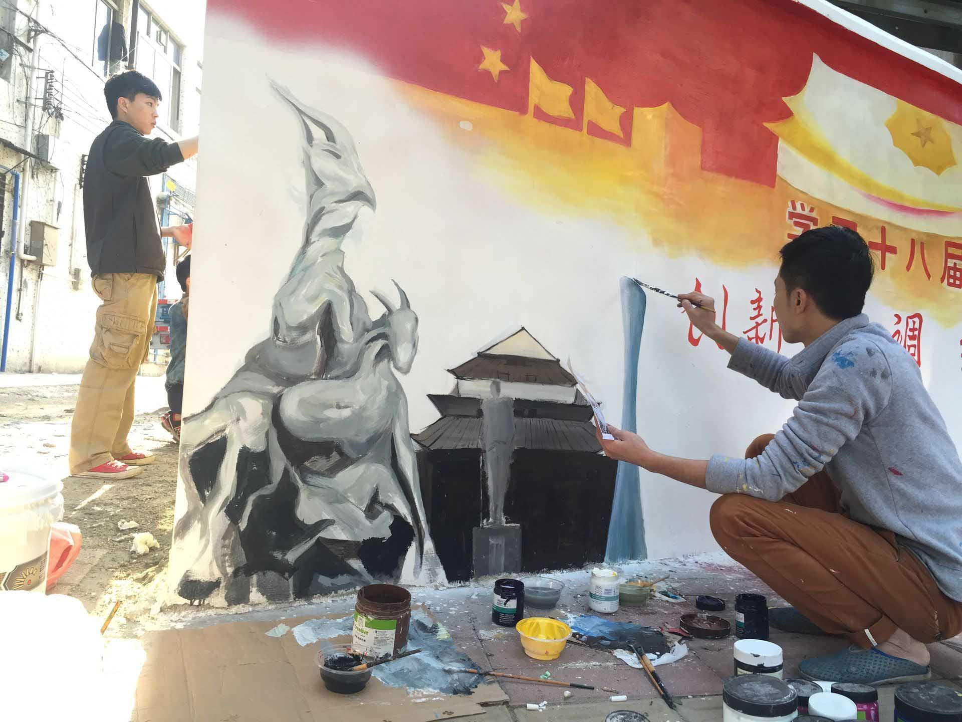 川美手绘墙画设计室,是一家以艺术手绘壁画