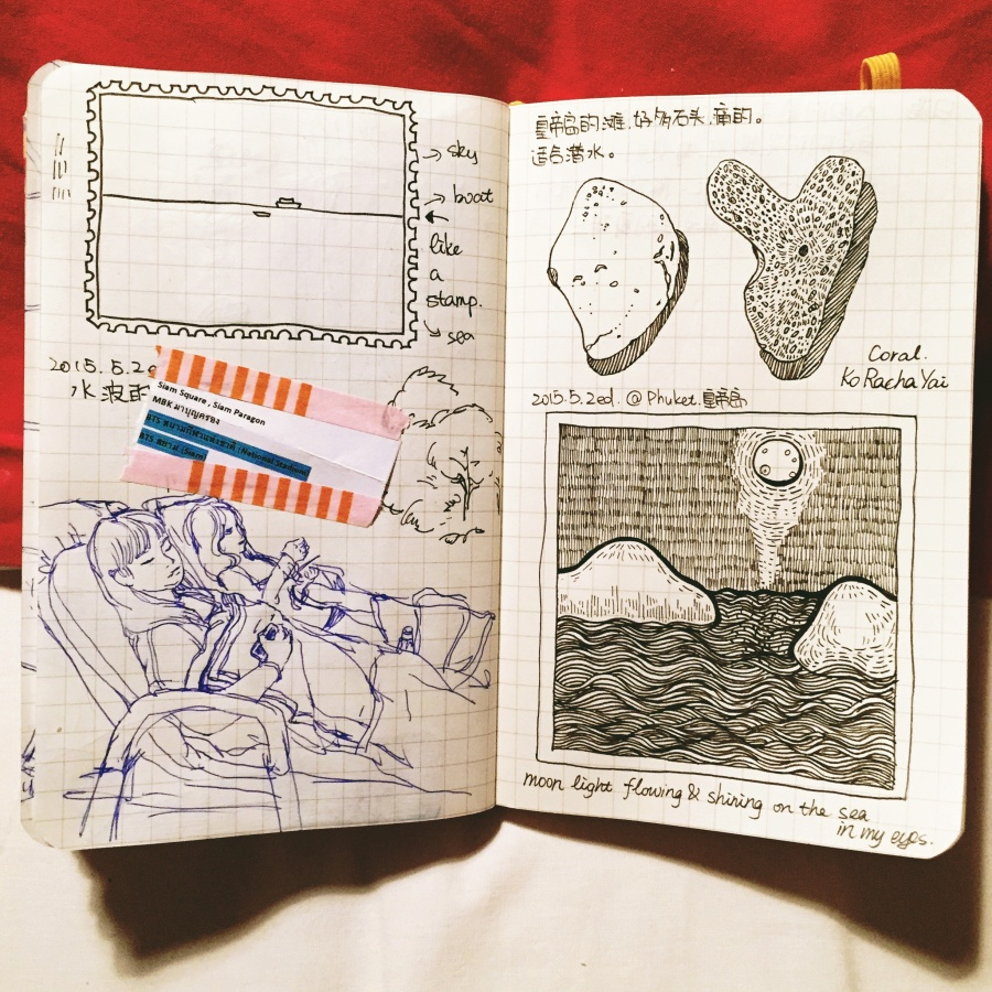 那些被我画过的手账们-泰国手绘游记 概念设定