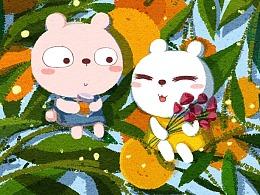 绘本—橙子与鲜花