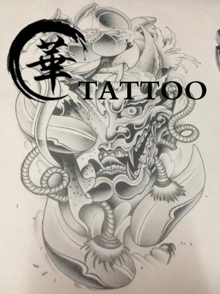 素描素材刺青 纯纹身 艺术 长沙华流派-原创作现代室内设计般若图片
