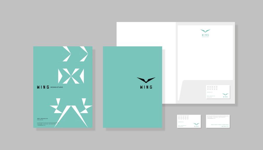 wing design.品牌视觉形象设计方案图片